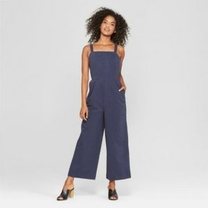 NWT Who What Wear Blue Overall Jumpsuit S